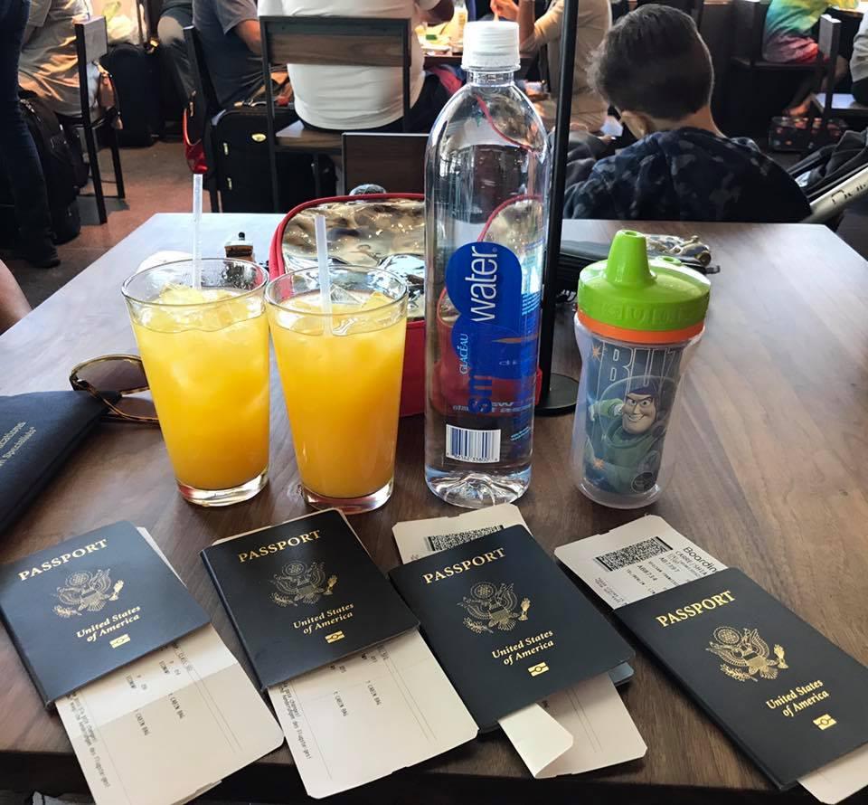 drinks on plane