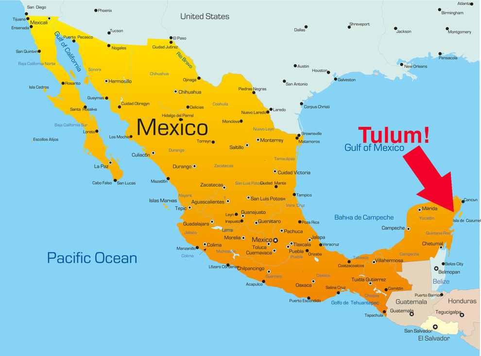tulum on a map 2